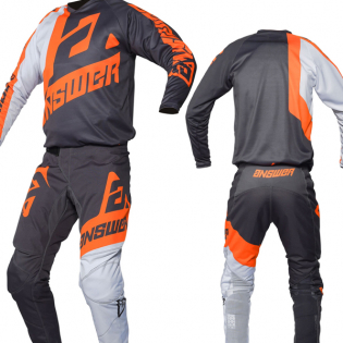 Answer Syncron Voyd Charcoal Grey Orange Pants Image 3