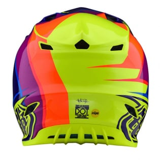 Troy Lee Designs SE4 Beta Yellow Purple Polyacrylite Helmet Image 2