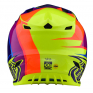Troy Lee Designs SE4 Beta Yellow Purple Polyacrylite Helmet