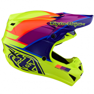Troy Lee Designs SE4 Beta Yellow Purple Polyacrylite Helmet Image 3