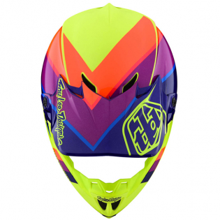 Troy Lee Designs SE4 Beta Yellow Purple Polyacrylite Helmet Image 4