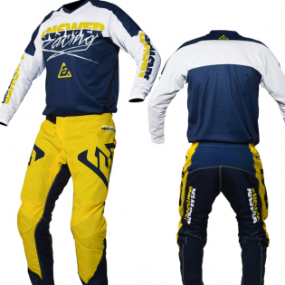 Answer Syncron Pro Glo Yellow Midnight White Pants Image 3