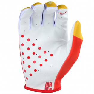 Troy Lee Designs GP Air Jet Red Yellow Gloves Image 3