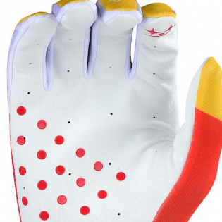 Troy Lee Designs GP Air Jet Red Yellow Gloves Image 4