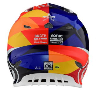 Troy Lee Designs SE4 Jet Orange Navy Composite Helmet Image 3