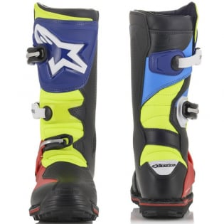 Alpinestars Tech-T Black Blue Red Yellow Fluo Trials Boots Image 2
