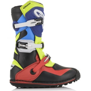 Alpinestars Tech-T Black Blue Red Yellow Fluo Trials Boots Image 3
