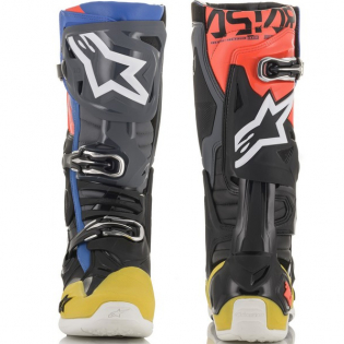 Alpinestars Tech 10 Black Yellow Blue Red Fluo Boots Image 3