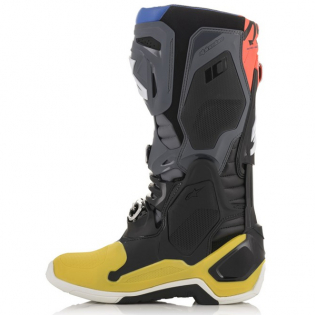 Alpinestars Tech 10 Black Yellow Blue Red Fluo Boots Image 4