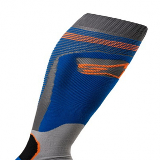 Alpinestars Plus-1 Blue Orange Fluo MX Socks Image 2