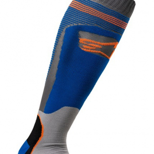 Alpinestars Plus-1 Blue Orange Fluo MX Socks Image 3