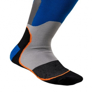 Alpinestars Plus-1 Blue Orange Fluo MX Socks Image 4