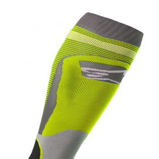 Alpinestars Plus-1 Yellow Fluo Cool Grey MX Socks Image 2