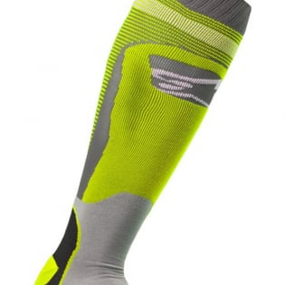Alpinestars Plus-1 Yellow Fluo Cool Grey MX Socks Image 3