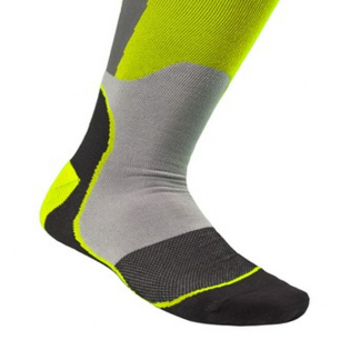 Alpinestars Plus-1 Yellow Fluo Cool Grey MX Socks Image 4