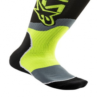 Alpinestars Plus-2 Black Yellow Fluo MX Socks Image 4