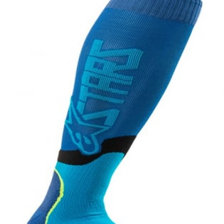 Alpinestars Plus-2 Blue Cyan MX Socks Image 3