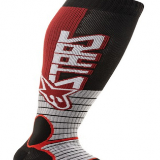 Alpinestars Pro Burgundy Black MX Socks Image 3