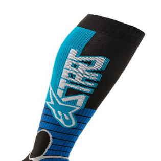 Alpinestars Pro Cyan Black MX Socks Image 2
