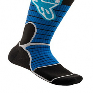 Alpinestars Pro Cyan Black MX Socks Image 4
