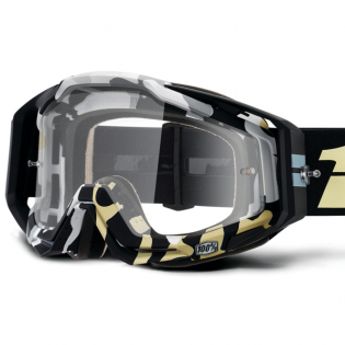 100% Racecraft Ergoflash Clear Lens Goggles Image 2