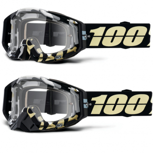 100% Racecraft Ergoflash Clear Lens Goggles Image 4