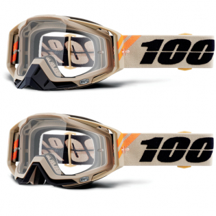100% Racecraft Poliet Clear Lens Goggles Image 4