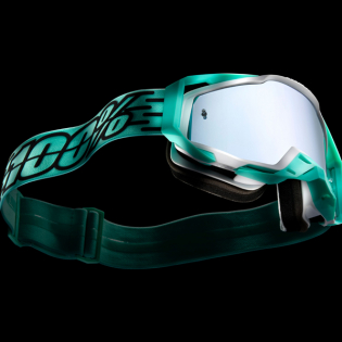 100% Racecraft Plus Fasto Injected Silver Mirror Lens Goggles Image 2