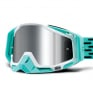 100% Racecraft Plus Fasto Injected Silver Mirror Lens Goggles