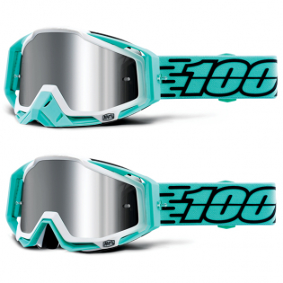 100% Racecraft Plus Fasto Injected Silver Mirror Lens Goggles Image 4