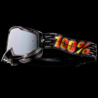 100% Racecraft Plus Costume Injected Silver Mirror Lens Goggles Image 3