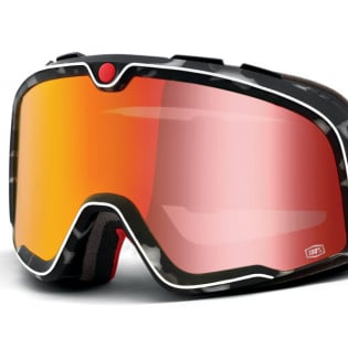 100% Barstow Classic Gasby Red Lens Goggles Image 2