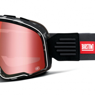 100% Barstow Classic Gasby Red Lens Goggles Image 3