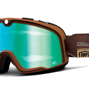 100% Barstow Classic Pendleton Flash Green Lens Goggles Image 3