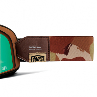 100% Barstow Classic Pendleton Flash Green Lens Goggles Image 4