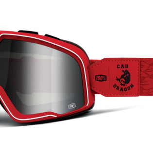 100% Barstow Classic Steve Caballero Silver Lens Goggles Image 3