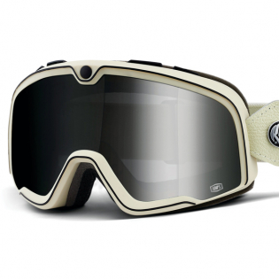 100% Barstow Classic Roland Sands Silver Lens Goggles Image 2