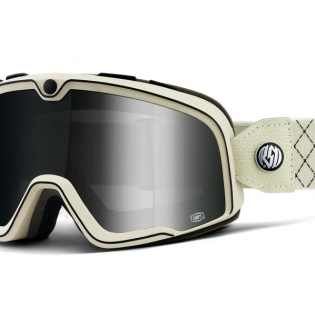 100% Barstow Classic Roland Sands Silver Lens Goggles Image 3