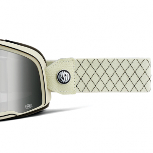 100% Barstow Classic Roland Sands Silver Lens Goggles Image 4