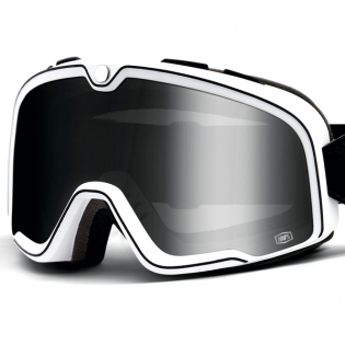 100% Barstow Classic Coda Silver Lens Goggles Image 2