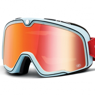 100% Barstow Classic Carlyle True Red Lens Goggles Image 2