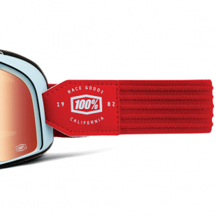100% Barstow Classic Carlyle True Red Lens Goggles Image 4