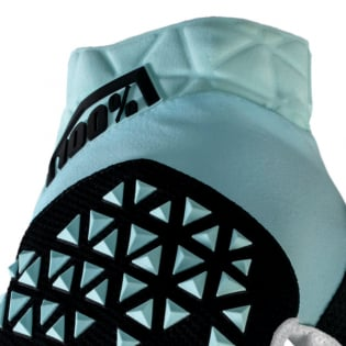100% Airmatic Sky Blue Black Gloves Image 2