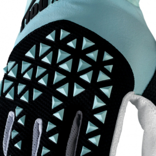 100% Airmatic Sky Blue Black Gloves Image 3
