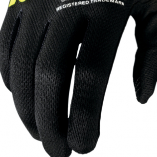 100% iTrack Black Fluo Yellow Motocross Gloves Image 2