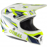 ONeal 3 Series Triz Blue Neon Yellow Motocross Helmet