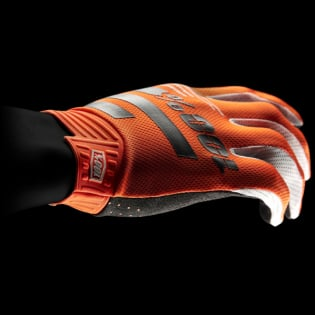 100% iTrack Kids Fluo Orange Black Motocross Gloves Image 3