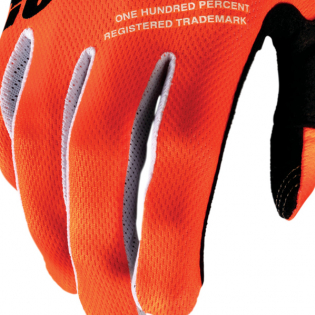 100% iTrack Kids Fluo Orange Black Motocross Gloves Image 4