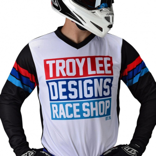 Troy Lee Designs Kids GP Carlsbad White Black Kit Combo Image 2