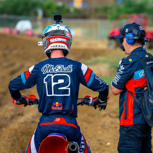 Troy Lee Designs SE Seca Dark Navy Orange Kit Combo Image 2